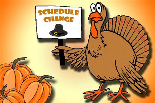 November Schedule Change (graphic)