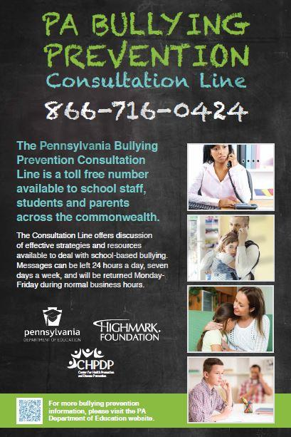 PA Bullying Prevention Consultation Line