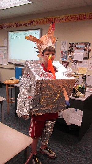 Shane as Robot Turkey