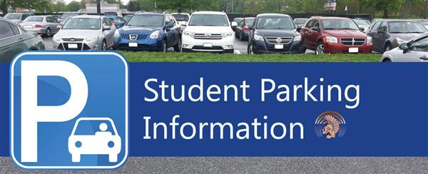 Student Parking Information graphic