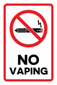 No Vaping graphic
