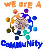 We Are A Community graphic
